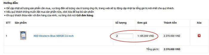 hướng dẫn đặt hàng online pcmart.vn