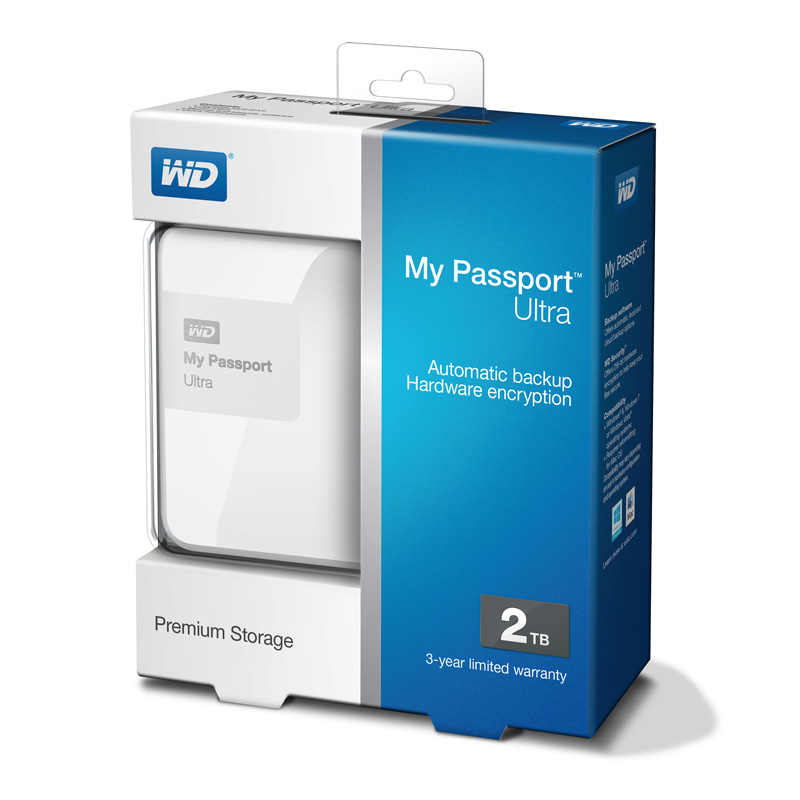 Ổ cứng wd my passport ultra 2tb wdbbkd0020bbw white