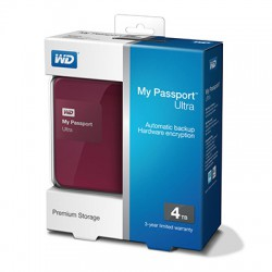 Ổ cứng wd my passport ultra 4tb wdbbkd0040bby berry